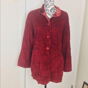 Vintage Red Corduroy Jacket